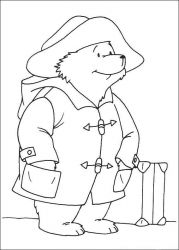 plansa de colorat paddington bear #16