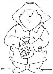 plansa de colorat paddington bear #22