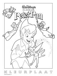 plansa de colorat peter pan #16