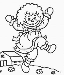 plansa de colorat raggedy ann and andy #1