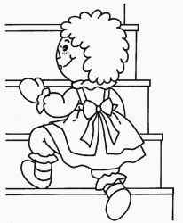 plansa de colorat raggedy ann and andy #5