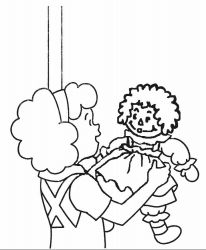 plansa de colorat raggedy ann and andy #8