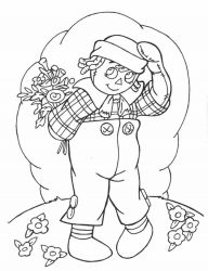 plansa de colorat raggedy ann and andy #12