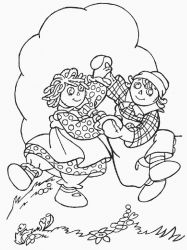 plansa de colorat raggedy ann and andy #13