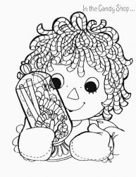 plansa de colorat raggedy ann and andy #18