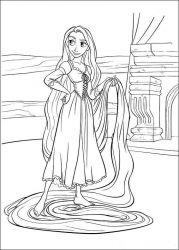 Planse De Colorat Cu Rapunzel Desene De Colorat Cu