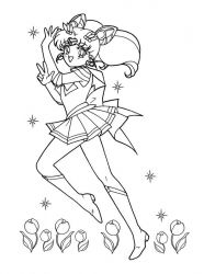 plansa de colorat sailor moon #1