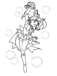 plansa de colorat sailor moon #2