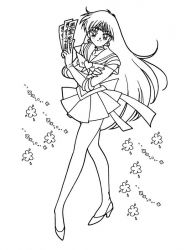 plansa de colorat sailor moon #4
