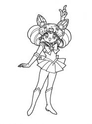 plansa de colorat sailor moon #8