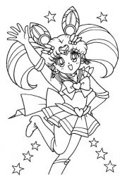 plansa de colorat sailor moon #15