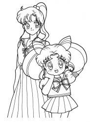 plansa de colorat sailor moon #20