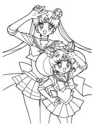 plansa de colorat sailor moon #26
