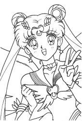 plansa de colorat sailor moon #39