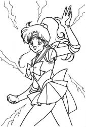 plansa de colorat sailor moon #51