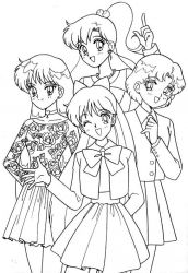 plansa de colorat sailor moon #55