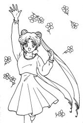 plansa de colorat sailor moon #57