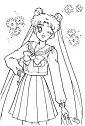 plansa de colorat sailor moon #61