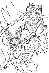 plansa de colorat sailor moon #62