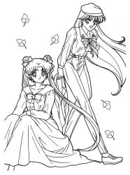 plansa de colorat sailor moon #64