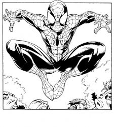 plansa de colorat spiderman #12