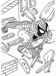 plansa de colorat spiderman #23
