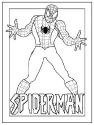 plansa de colorat spiderman #34