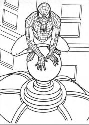 plansa de colorat spiderman #42