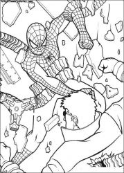 plansa de colorat spiderman #46