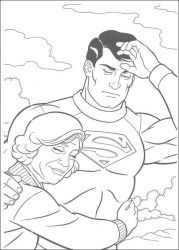 plansa de colorat superman #24