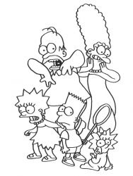 plansa de colorat the simpsons #11
