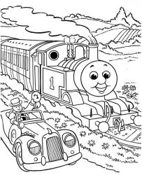 plansa de colorat thomas the train #2
