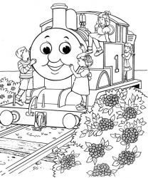 plansa de colorat thomas the train #3