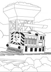 plansa de colorat thomas the train #4