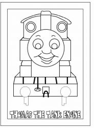 plansa de colorat thomas the train #6