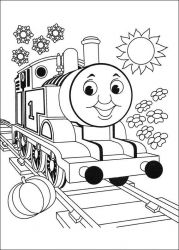plansa de colorat thomas the train #11