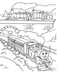 plansa de colorat thomas the train #12