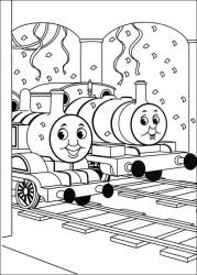 plansa de colorat thomas the train #13