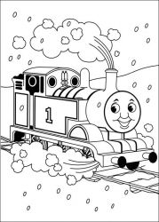 plansa de colorat thomas the train #14