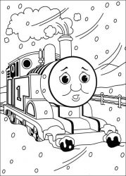 plansa de colorat thomas the train #15