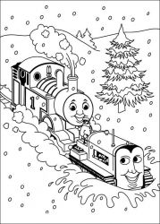 plansa de colorat thomas the train #16