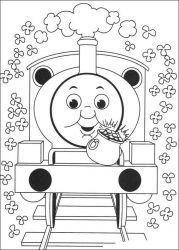 plansa de colorat thomas the train #19