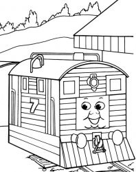 plansa de colorat thomas the train #23