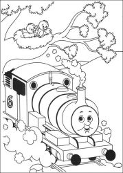 plansa de colorat thomas the train #24