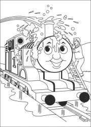 plansa de colorat thomas the train #25