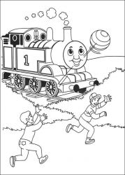 plansa de colorat thomas the train #26