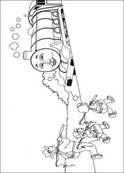 plansa de colorat thomas the train #32