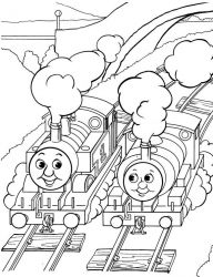 plansa de colorat thomas the train #34