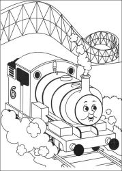 plansa de colorat thomas the train #35