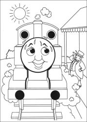 plansa de colorat thomas the train #37
